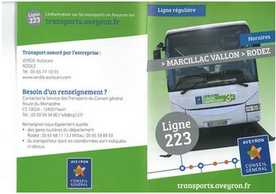 Solution de transport Rodez-Marcillac