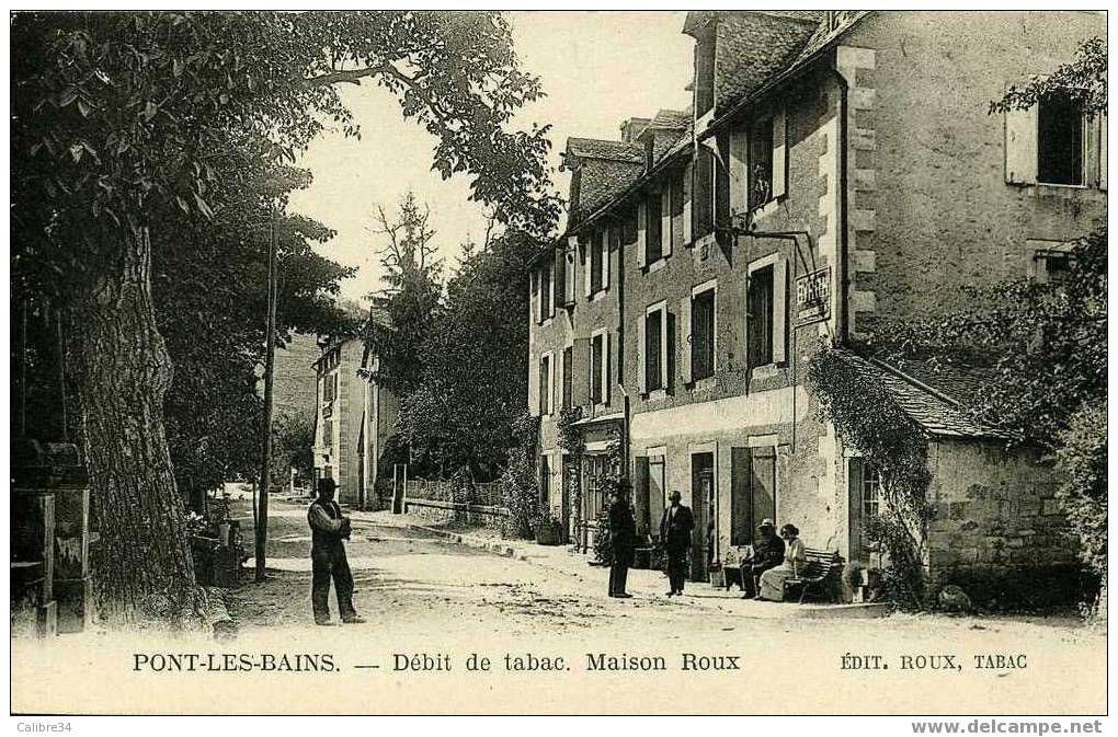 Pont-les-bains - Débit de tabac. Maison Roux