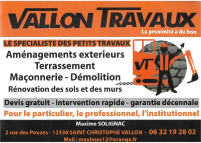 Vallon Travaux
