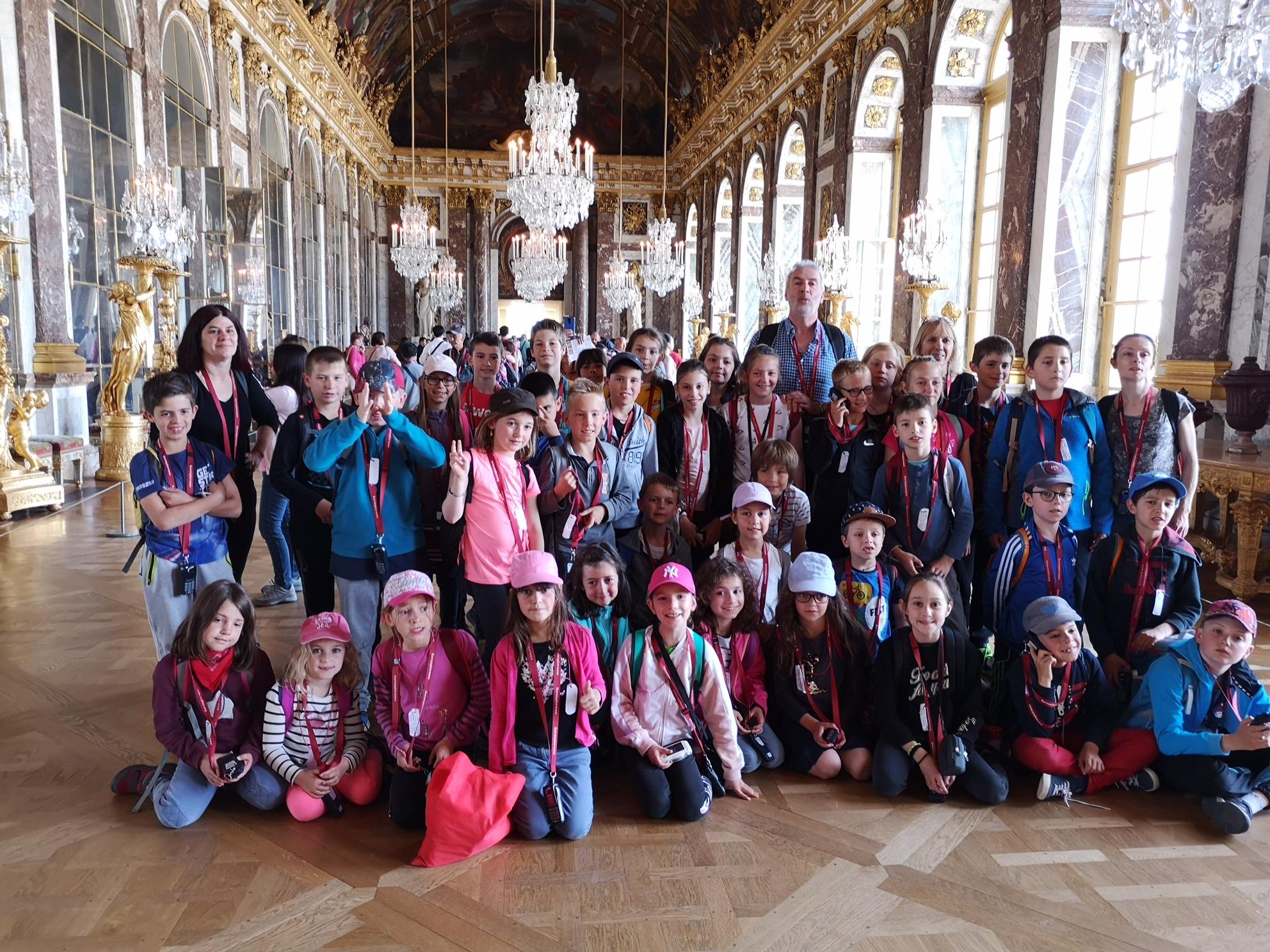 Quel voyage scolaire! Versailles!